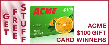 Qyst Tire and Automotive Get Free Stuff Give-a-way $100 ACME Gift Cards