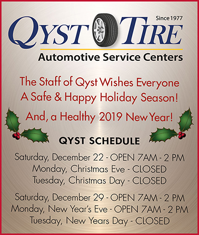 Qyst Tire 2018 Holiday Schedule