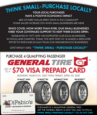 QYST General Tire Promo, Thinks Small Support Locally Business