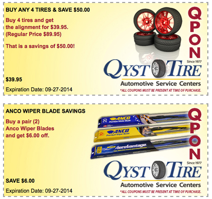 GET YOUR VEHICLES READY FOR FALL WITH QYST COUPONS!