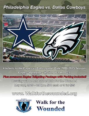 qyst_walk_for_wounded_Free Eagles vs Dallas Tickets